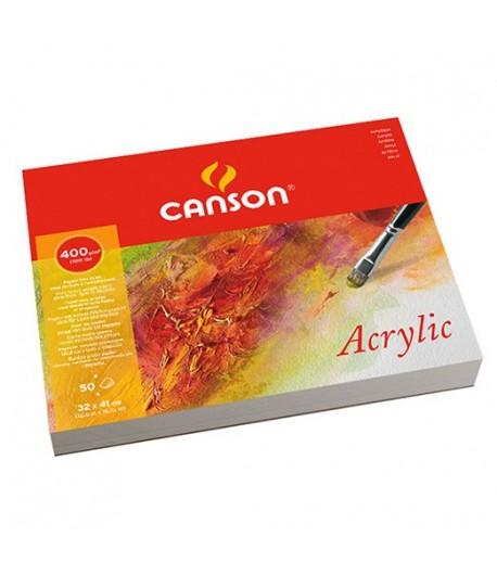 Bloc de feuilles acrylique, 400g, 50 feuilles, 24x32cm, Canson