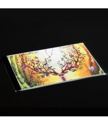 Tablette lumineuse A3 réglable