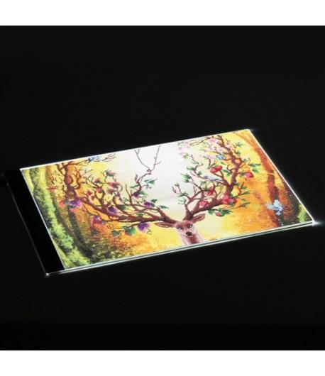 Tablette lumineuse - A3 réglable, 46cm x 30cm
