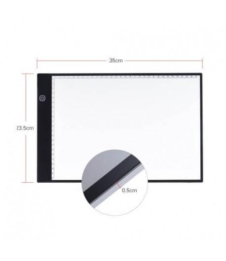 Tablette lumineuse - A4 réglable, 35cm x 23,5 cm
