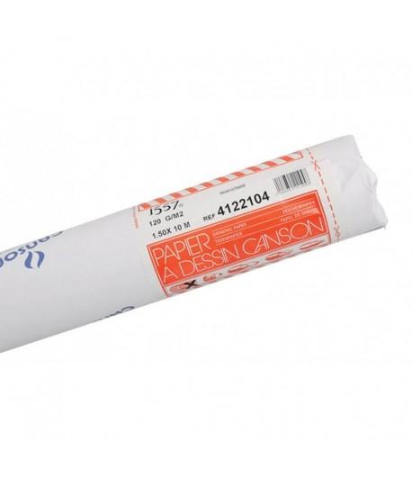 Rouleau à dessin JA, 1.50mx10m, 120g blanc, Canson