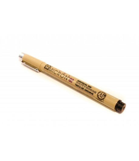 Crayon liner noir, Pigma Micron 0.2