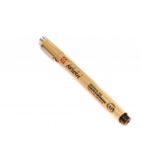 Crayon liner noir, Pigma Micron Brush