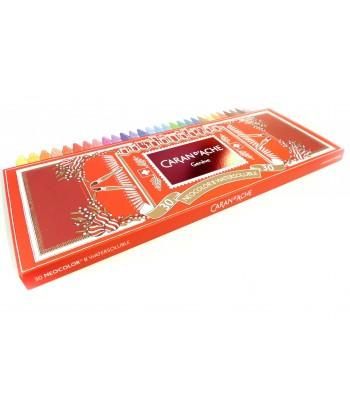 Boîte de 30 couleurs assorties, Neocolor II Watersoluble, Caran d'Ache