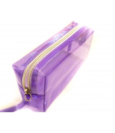 Grosse trousse colorée, violette