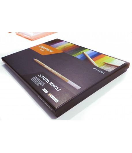 Boîte de 20 couleurs assorties (pastel pencils), Caran d'Ache