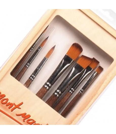 Pinceaux studio acrylique 7 formes (acrylic brush set), Mont Marte