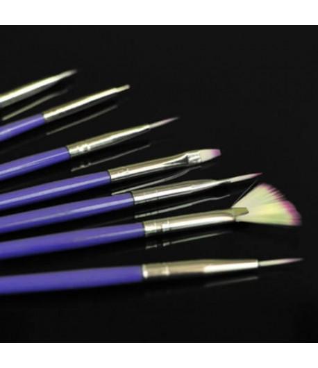 Pinceaux nail art, 7 pièces