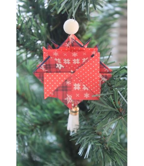 Kit créatif : étoile de noël en origami (rouge)
