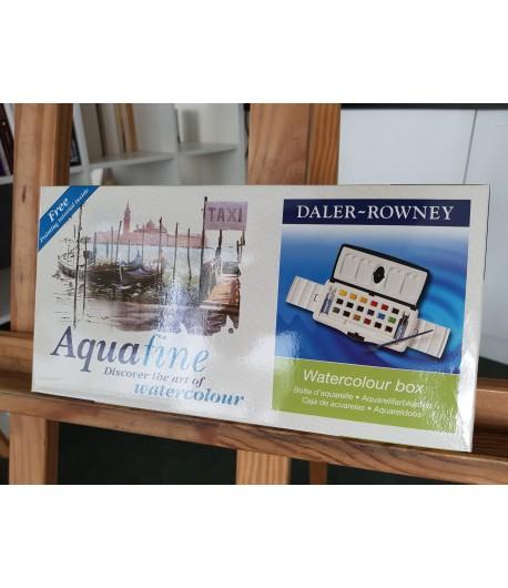 Boîte d'aquarelle Aquafine - Set de 18 demi-godets, Daler Rowney