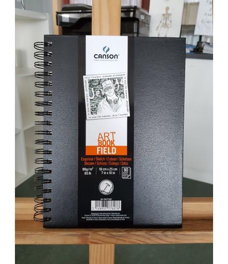 Carnet papier Art book Field, 96gr, 18x25cm, 90 pages, Canson
