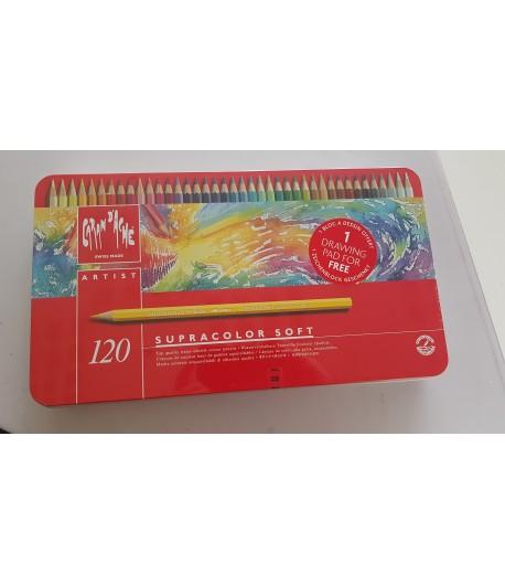 Boîte de 120 crayons supracolor soft, Caran d'Ache
