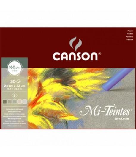 Paquet de 30 mi-teintes nuances de gris, 32x41cm, Canson