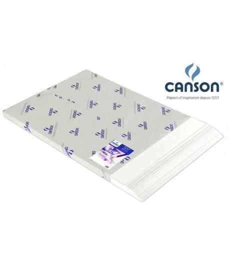 Lot de 50 feuilles papier formats raisin 120gr blanc, Canson